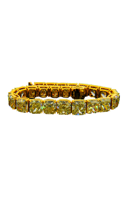 Yellow Radiant Cut Classic Straight Line Diamond Bracelet product image