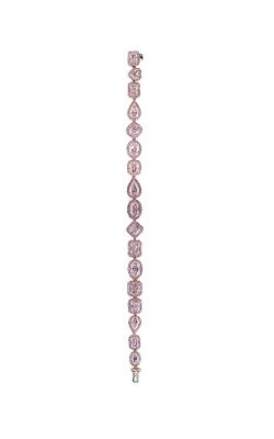 Pink Multi-Shape Pavé Straight Line Diamond Bracelet product image