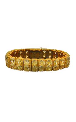 Fancy Light Yellow Radiant Cut Double Row Pavé Straight Line Diamond Bracelet product image