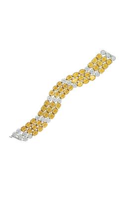 Yellow & White Multi-Shape Triple Row Straight Line Diamond Bracelet product image
