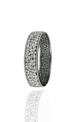 White Multi-Shape Pavé Cluster Diamond Bangle product image