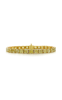 Fancy Yellow Radiant Cut Classic Straight Line Diamond Bracelet product image