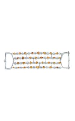 Yellow & White Multi-Shape Four-Row Diamond Bracelet product image