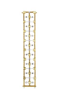 Yellow & White Cushion Cut Pavé Triple-Row Diamond Bracelet product image