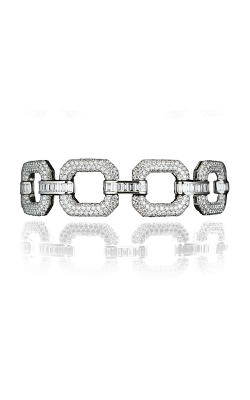 Multi-Shape Chain Link Pavé Straight Line Diamond Bracelet product image