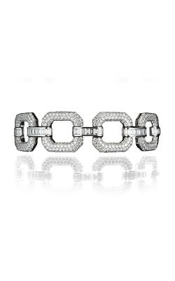 Multi-Shape Chain Link Pavé Straight Line Diamond Bracelet product image