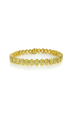 Fancy Intense Yellow Oval Cut Classic Straight Line Diamond Bracelet product image