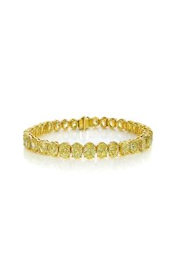 Fancy Intense Yellow Oval Cut Classic Straight Line Diamond Bracelet product image