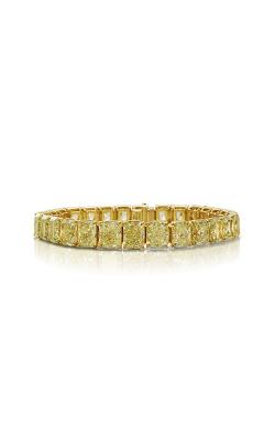 Yellow Radiant Cut Classic Straight Line Diamond Bracelet product image