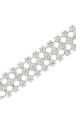 Multi-Shape Triple Row Straight Line Diamond Bracelet product image