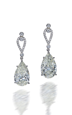 Pearshape Ornament Diamond Drop Earrings product image