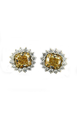 Yellow & White Radiant Cut Diamond Studs product image