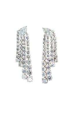 White Multi-Shape Diamond Chandelier Earrings product image