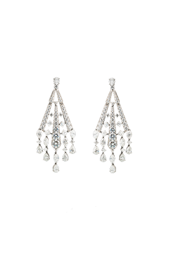 White Multi-Shape Art Deco Diamond Chandelier Earrings product image