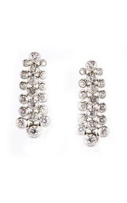 Round Bezel Diamond Earrings product image