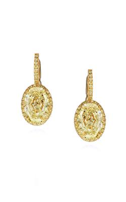 Yellow Oval Halo Drop Earrings product image