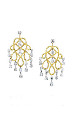 Yellow & White Multi Shape Ornate Diamond Chandelier Earrings product image