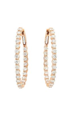Diamond Hoop Earrings product image