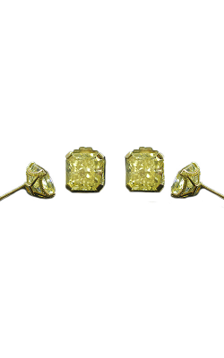 Yellow Radiant Pave Diamond Stud Earrings product image