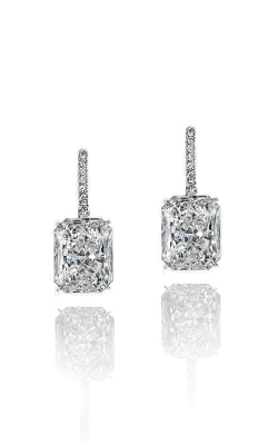 Classic White Radiant Cut Pavé Diamond Drops product image
