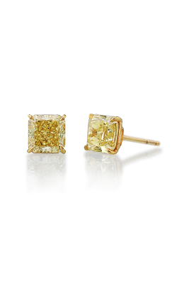 Classic Yellow Radiant Cut Diamond Studs product image