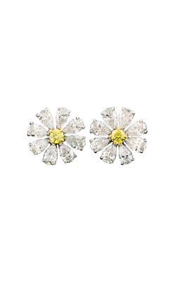 Yellow & White Multi-Shape Floral Cluster Studs product image