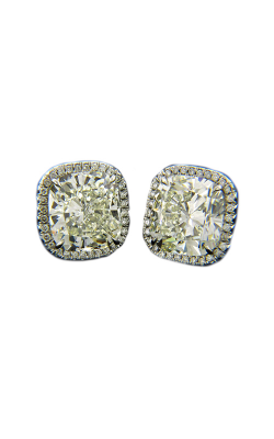 Classic White Cushion Cut Halo Diamond Studs product image