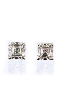 Classic White Asscher Cut Diamond Studs product image