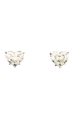 Classic White Heartshape Diamond Studs product image