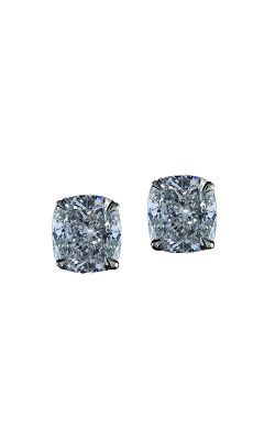 Classic White Cushion Cut Diamond Studs product image