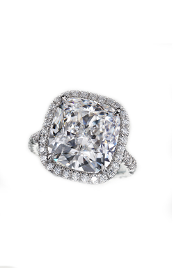 Cushion Halo Diamond Ring product image