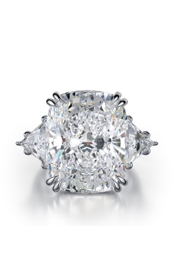Cushion Three-Stone Diamond Ring product image