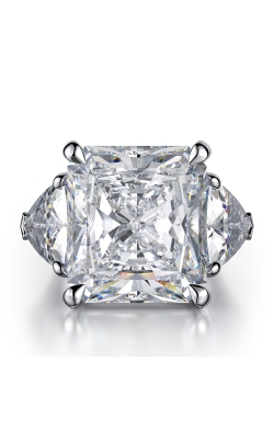 Radiant cut Three-Stone Diamond Ring product image