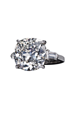 Antique Cushion Three-Stone Diamond Ring product image