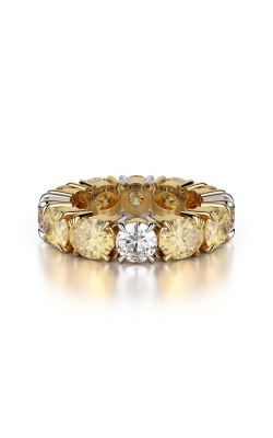 Yellow & White Diamond Eternity Band product image
