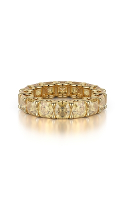 Fancy Yellow Cushion Eternity Band product image