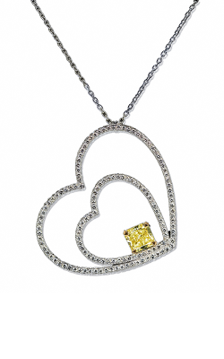 Two Hearts Diamond Pendant product image