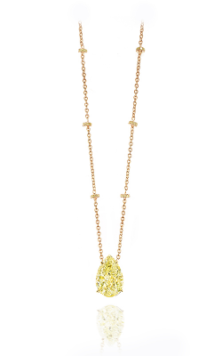 Fancy Yellow Pearshape Diamond Pendant product image