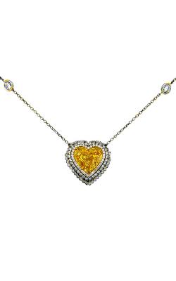 Yellow & White Heartshape Diamond Pendant product image