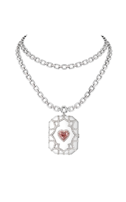 Pink & White Heartshape Diamond Locket product image