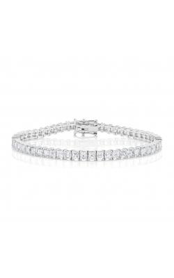 Asscher Cut Classic Straight Line Diamond Bracelet product image